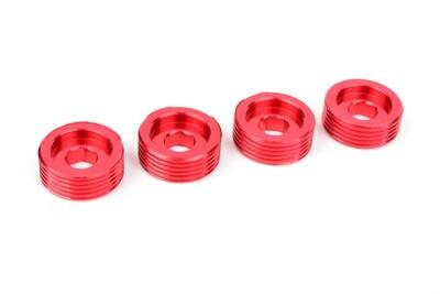 Team Corally Pivot Ball Adjusting Nut - Aluminum - 4 pcs