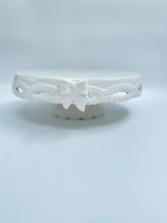 Alzatina in Ceramica Bianca Collezione Sentimento Blanc Mariclò