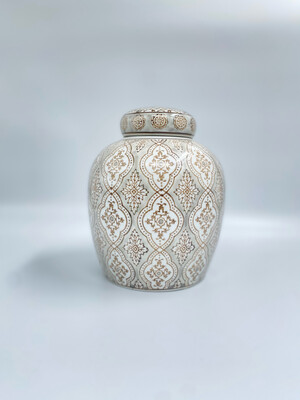 "Vaso con coperchio Blanc Mariclo' serie ""Kreisleriana"" in porcellana"
