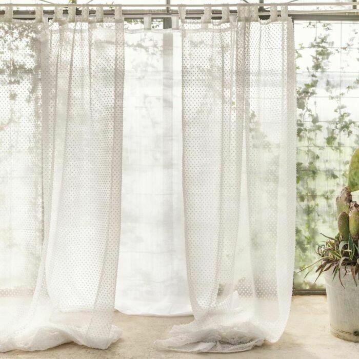 Telo Tenda con Passanti 150x290cm Bianco Collezione Biancaneve Blanc Mariclò