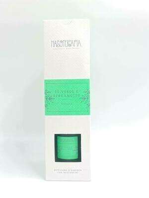 Diffusore con Bastoncini Tè Verde e Bergamotto- Nasoterapia