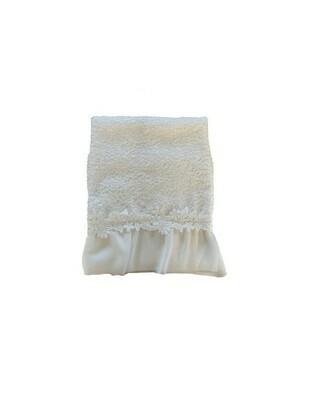 Coppia di Asciugamano in spugna con Pizzo e Crochet Panna Collezione Applauso Blanc Mariclò