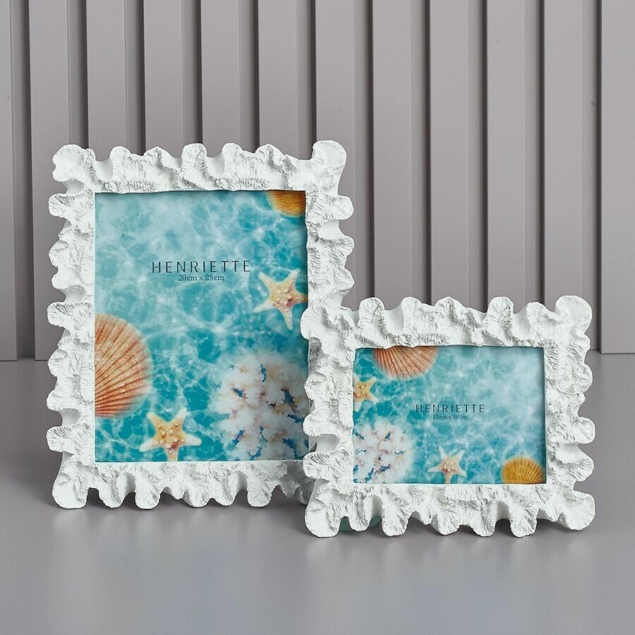 Henriette Cornice Corallo 13x18 cm Bianco