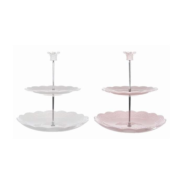 Alzatina in Ceramica Blanc Mariclò Collezione Le Petit Gourmand Rosa