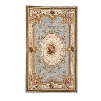Tappeto Velour con antiscivolo 85x150cm Grigio Collezione Elegant Blanc Mariclò
