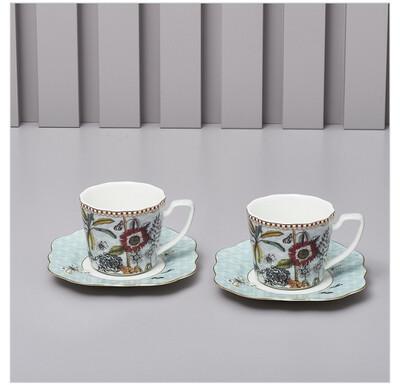 Set 2 Tazzine da caffè con piattino