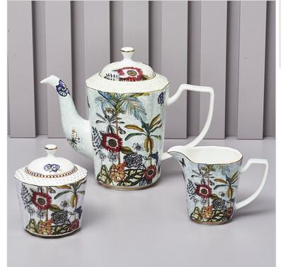 Zuccheriera In Ceramica 11cm Collezione Secret Garden Henriette
