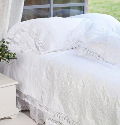 Copriletto Matrimoniale 260x260cm Collezione ANA Blanc Mariclò
