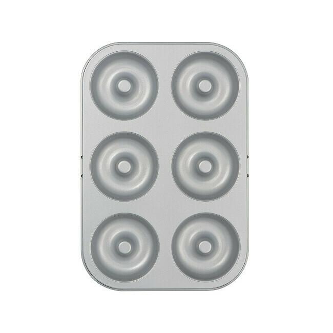 Stampo in Acciaio Mini Donuts 27x18 cm - Decora - 6 cavità