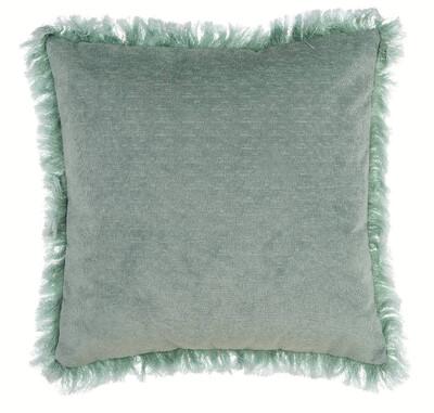 Cuscino Con frangia Verde Delavee 45x45 cm Blanc Mariclò