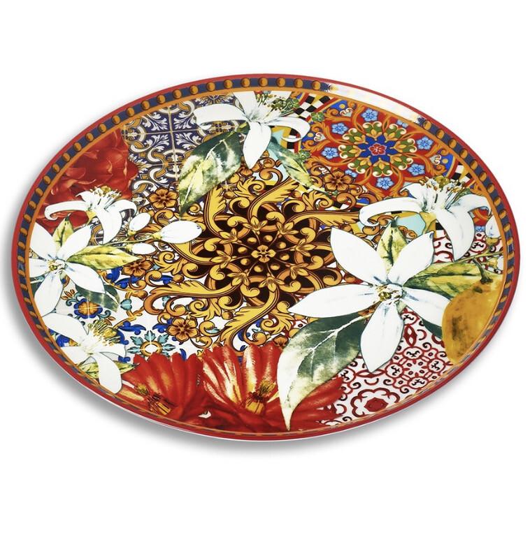 Piatto Torta in ceramica 32cm Linea Taormina Henriette