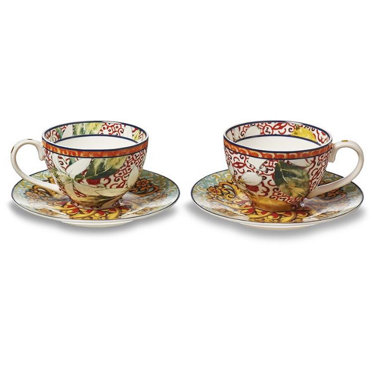 Set tazze da caffè in ceramica Linea Taormina Henriette