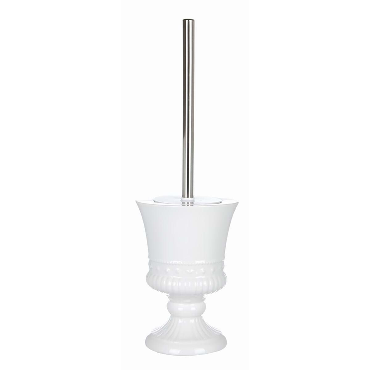 Spazzolino per Wc in Ceramica Bianco 13x13x17cm Blanc Mariclò