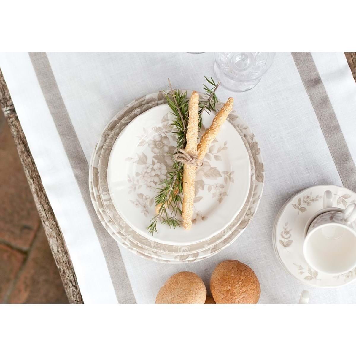 Servizio Piatti in ceramica da 6 Persone Splendor Blanc Mariclò