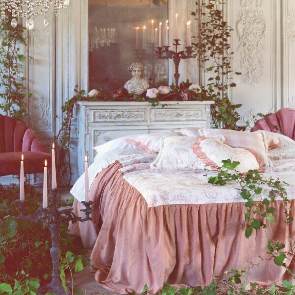 Copriletto singolo Rosa 100x210+70cms Queen Mary Blanc Mariclò