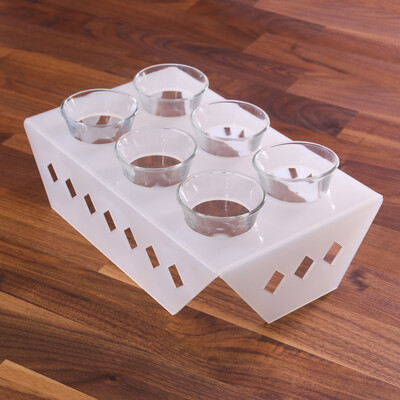 Coffee Cups Stand - White