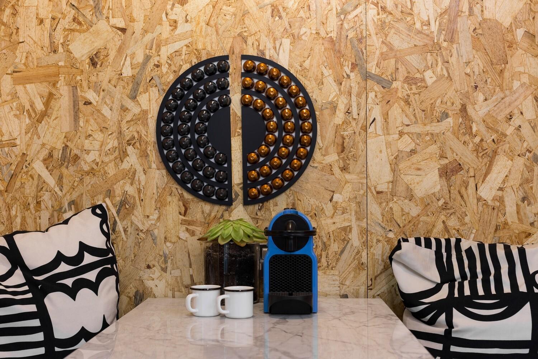 Round Wall Nespresso Stand - Black
