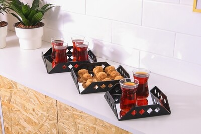 Set of 3 Trays - Black