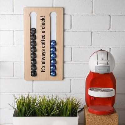 Coffee Wall Stand - Light Wood