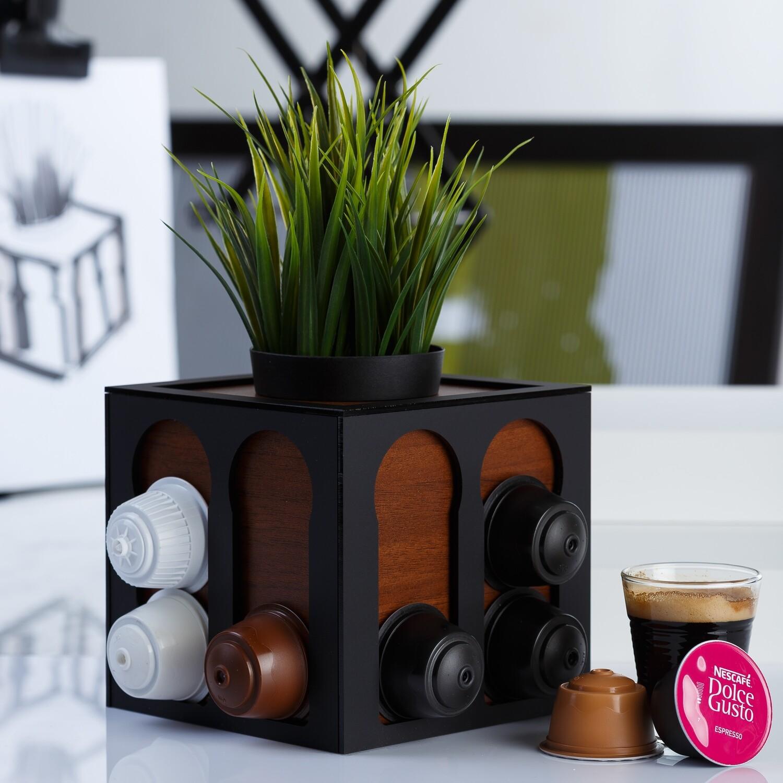 Coffee Planter - Brown Wood