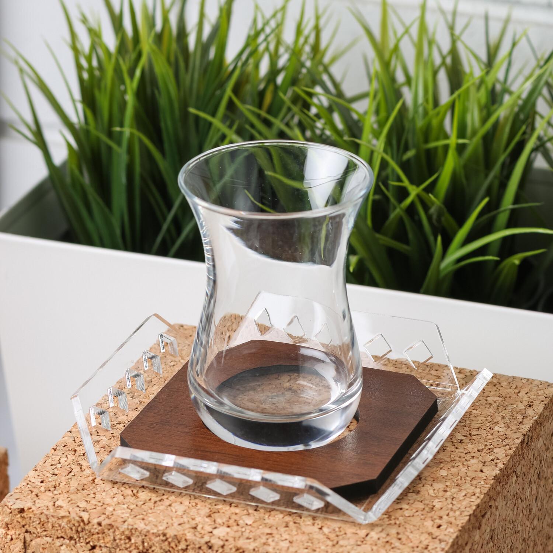Tea Cups Set - Brown