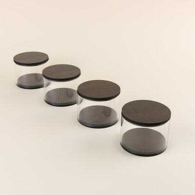 Round Box Set - Wood