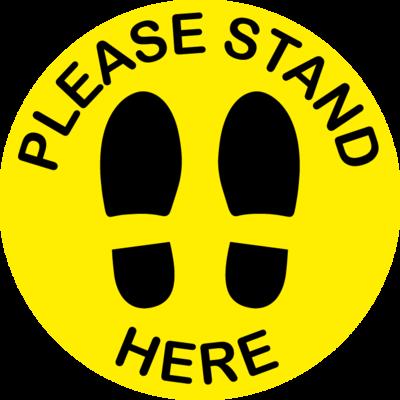 Please Stand Here Floor Sticker