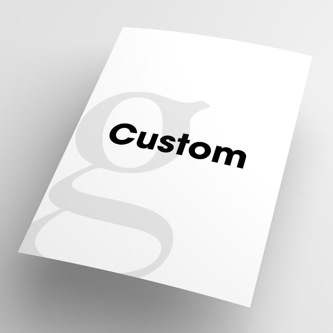Custom Sized Poster