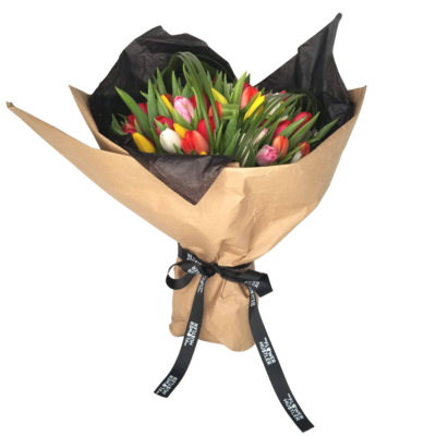 Tulips - Wrapped Bouquet