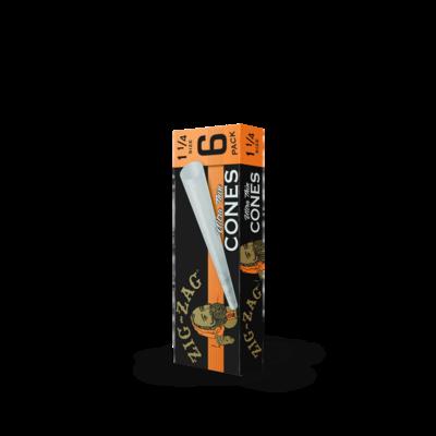 Zig Zag Ultra Thin Cones 1 1/4 6-Pack