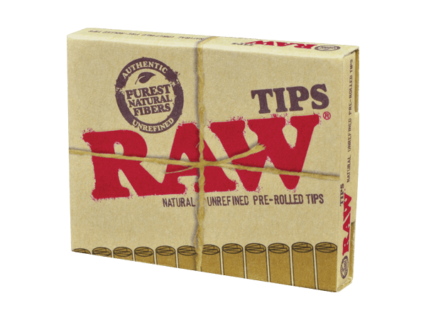 RAW Pre-Rolled Tips - 21 Unrefined Filter Tips