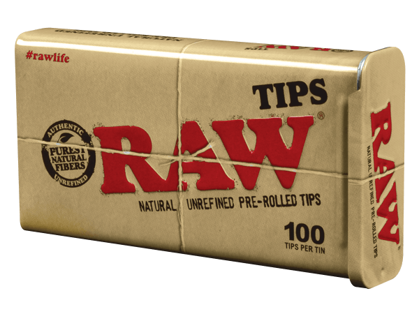 Raw Pre Rolled Tips Tins