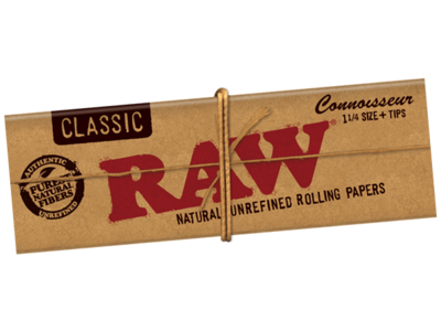 RAW Papers Connoisseur Slim + Tips Classic