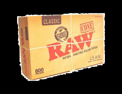 RAW Classic Lean Cones 110mm 800 Cone Box