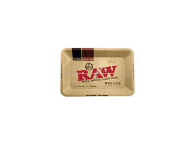 Raw Authentic Small Rolling Tray w/ Lid