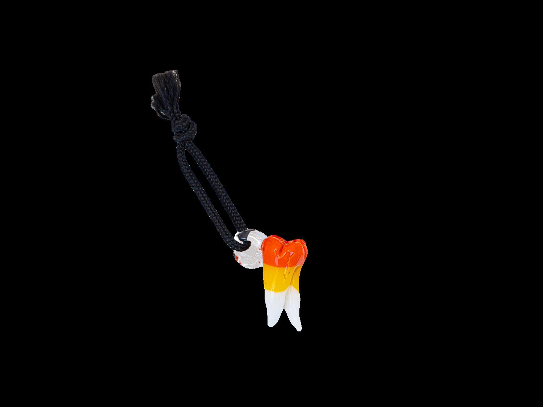 IrocZii Candy Corn Tooth Pendant