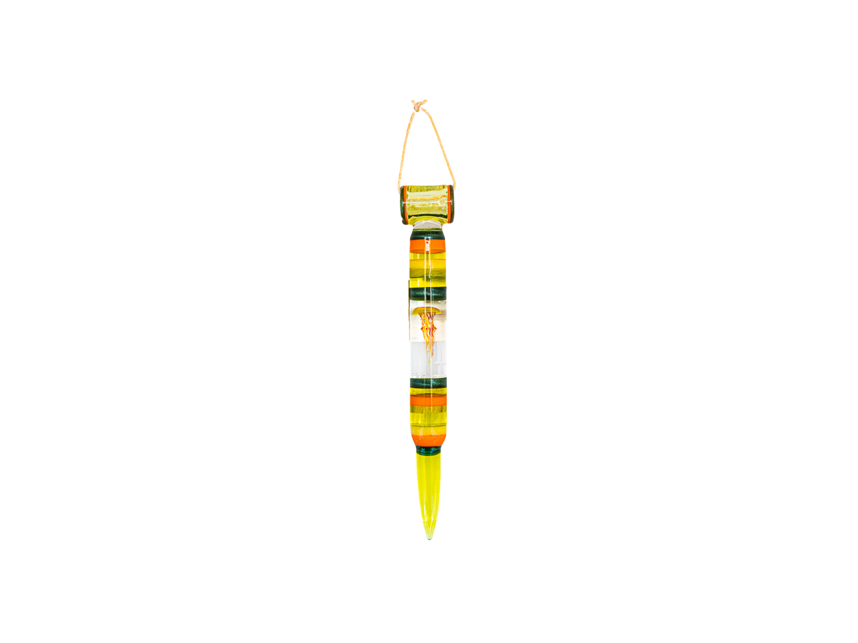 RAM Art Glass Fumed Bullet Pendant