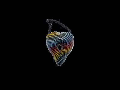ZM Glass Rainbow Heart Pendant
