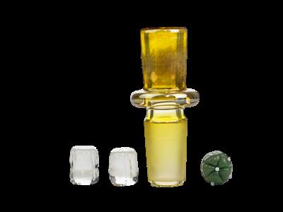 NugPlug x OP9 Silver Fume w/ 2 Marbles 18mm