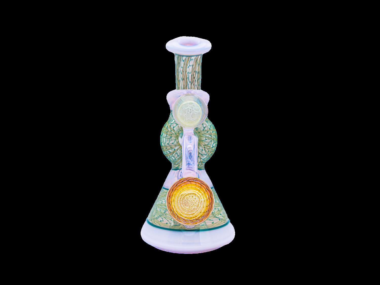 JD Maplesden Wormhole Blossom and Fumed Aqua Rig + Cap