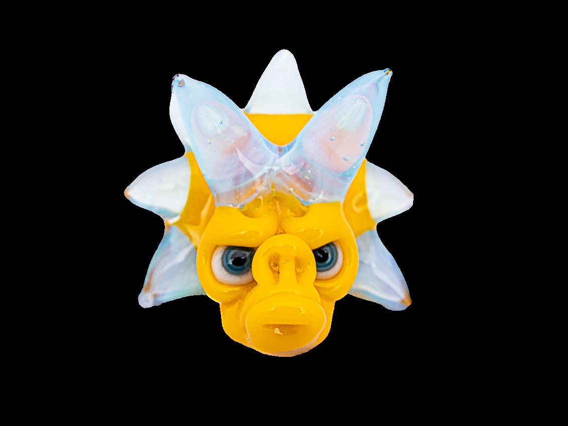 Coyle x Nerv Triceratops Yellow Monkey Pendant