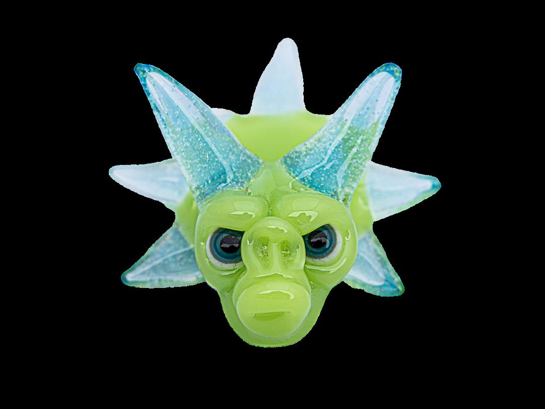 Coyle x Nerv Triceratops Green Monkey Pendant