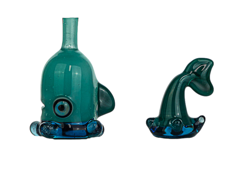 Cat Jive Ague Azul Swimmer Cap w/ Tail