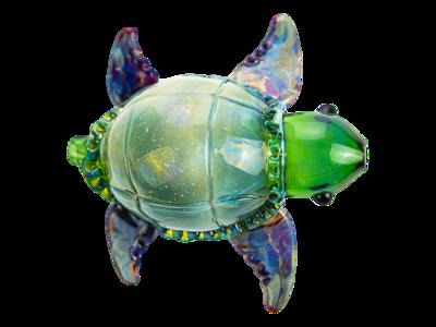 Daniels Glass Art Sea Turtle Dry Pipe