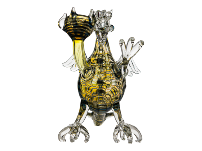 Daniels Glass Art Black Dragon Dry Pipe