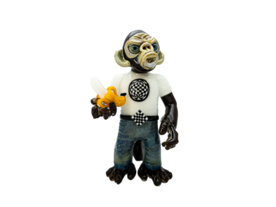 Coyle x Mike Ramen Standing Monkey w/ Pendant