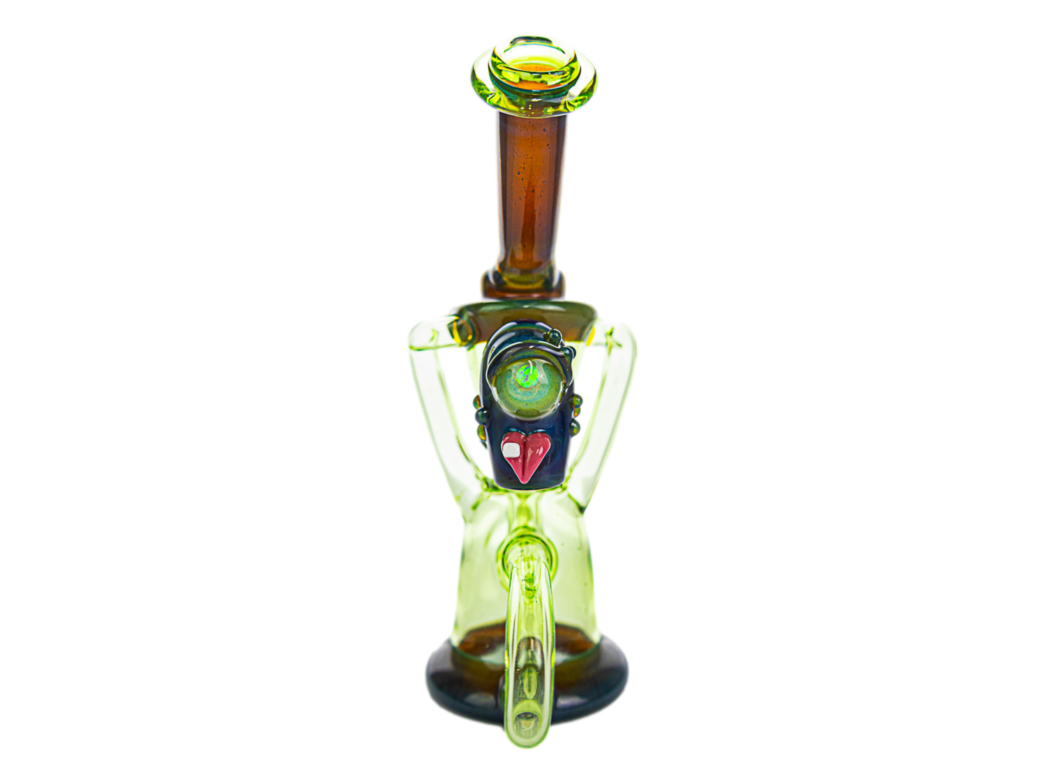 Fisk Glass Crypy & Biodiesel Over Blue Satin Recycler