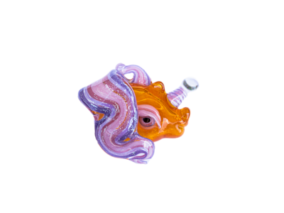 Amy Likes Fire 2017 Unicorn Pendant (GA Translucent Orange)