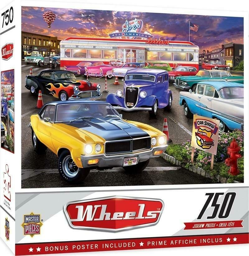 WHEELS - RUNNER'S UP - 750 PIECE JIGSAW PUZZLE