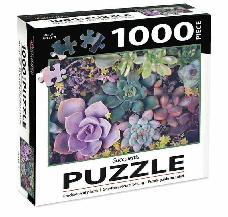 Succulents - 1000pc Jigsaw Puzzle by Turner Puzzles